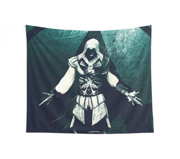 Ezio Auditore II Wall Tapestry. Save 20% sitewide. Awesomeness awaits. Use 20PERCENT. #sales #laborday #labordaysales #redbubble #save #ezio #gaming #gamer #gamersroom #gamergifts #gaminggifts #homedecor #homegifts #kidsroom #kidsgifts