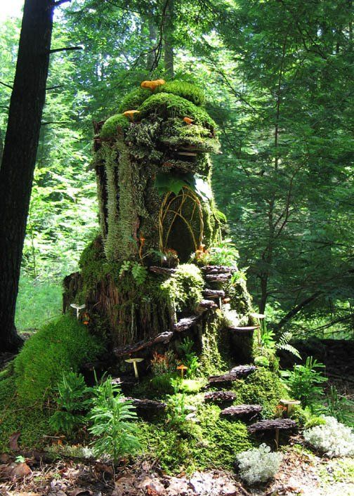 No End to Gardens, wallacegardens:  Forest folk habitat for the moss maidens. By Sally J. Smith.