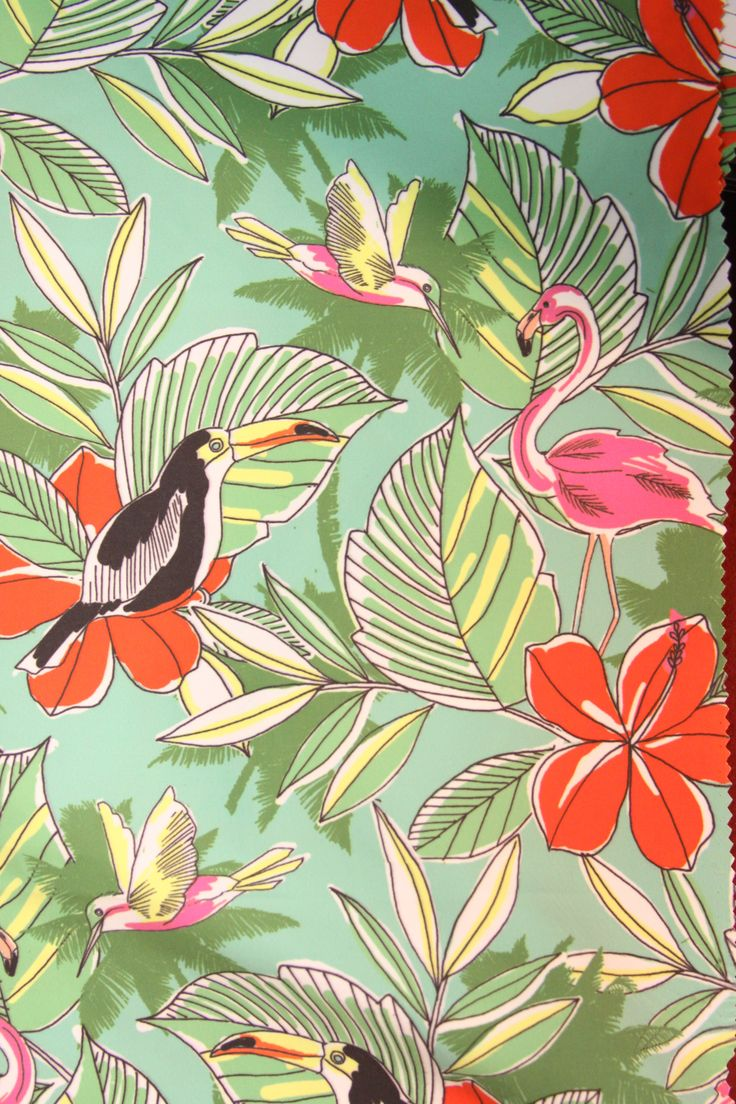 Mpdclick ss14 prints trends acton fabrics tropical for Wallpaper prints patterns