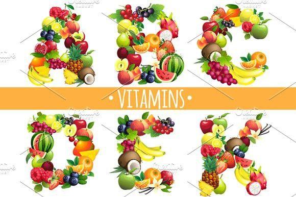 Kết quả hình ảnh cho Vitamins A,B,C,D,E,K