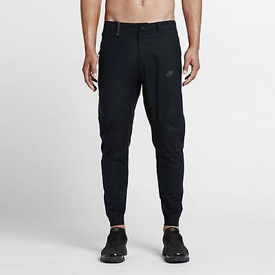 NWT NIKE TECH BONDED JOGGER MEN'S PANTS 823363-010 BLACK ON BLACK SZ 36 L  Clothing, Shoes & Accessories:Men's Clothing:Athletic Apparel