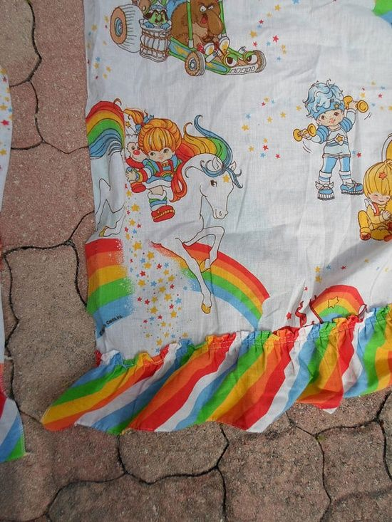 RAINBOW BRITE vintage 80s cartoon character curtain by | http://my-cartoon-photo-collections.blogspot.com