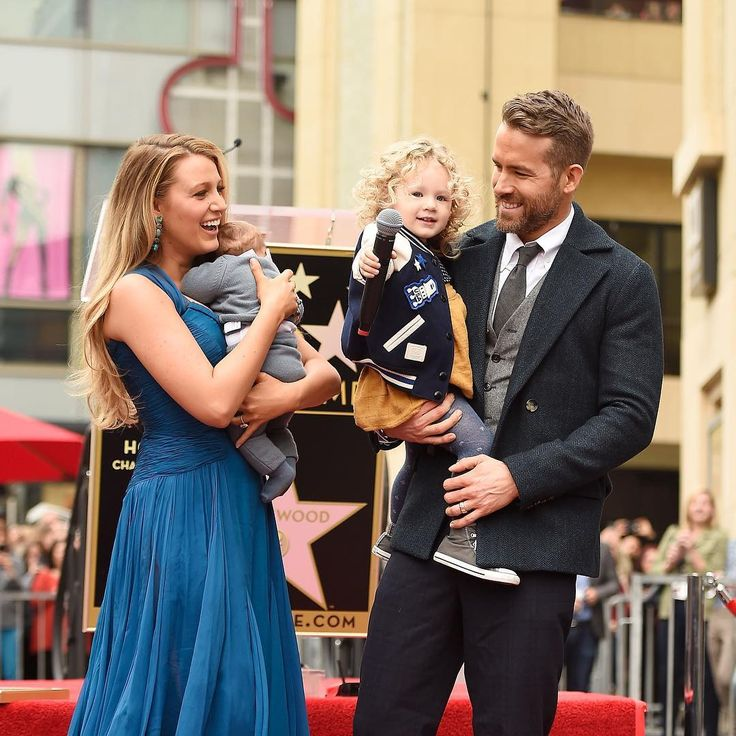 Blake Lively and Ryan Reynolds with their two daughters.
