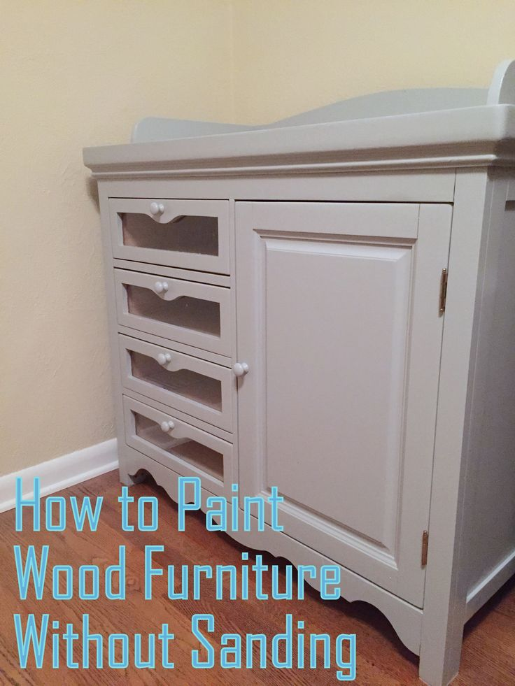 Painting Furniture. No Sanding Needed.