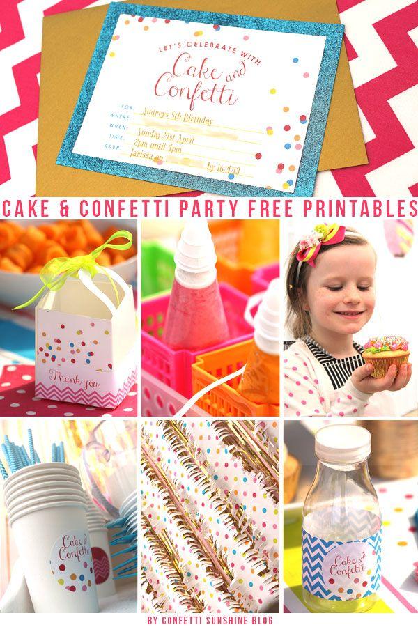 Confetti Sunshine: Cake and Confetti : Free Party Printables