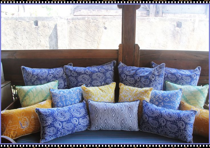 Colorful Batik Cushions.