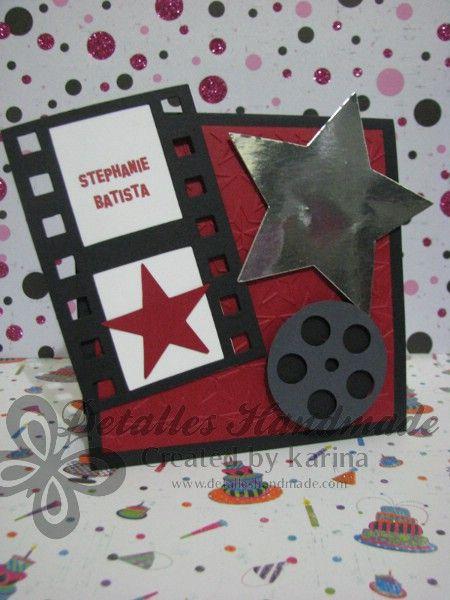 Hoy les muestro las invitaciones que hice para unos quince años al estilo Hollywood, celebrados hace poco en Santo Domingo.  Tiene la estrel...