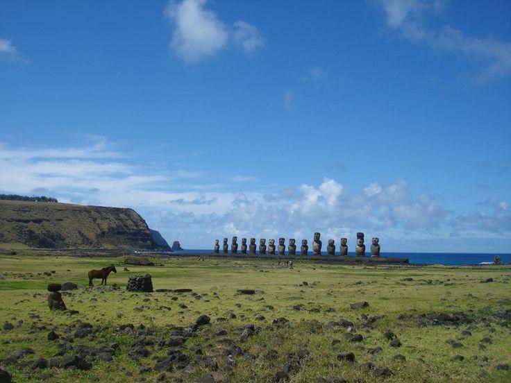 Despejado en Tongariki (Rapa Nui) Septiembre 17, 2014