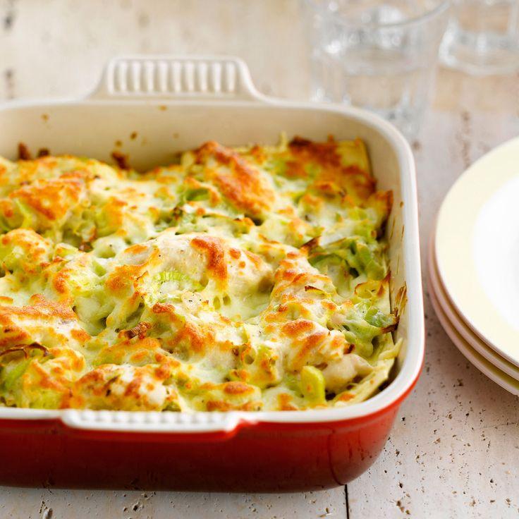Découvrez la recette Lasagnes au poulet et aux poireaux sur cuisineactuelle.fr.