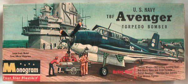 Monogram 1/48 US Navy Grumman TBF Avenger Torpedo Bomber Four Star Issue, PA31-149 plastic model kit