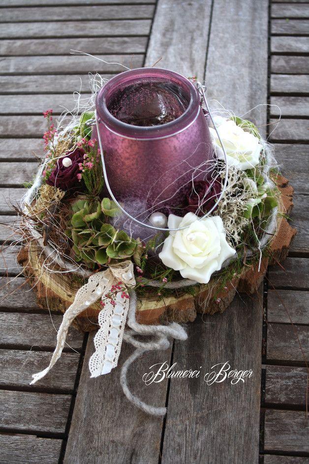 """Deko-Objekte - :::: Tischdeko """" Lila Träume """" :::: - ein Designerstück von BlumereiBerger bei DaWanda"""