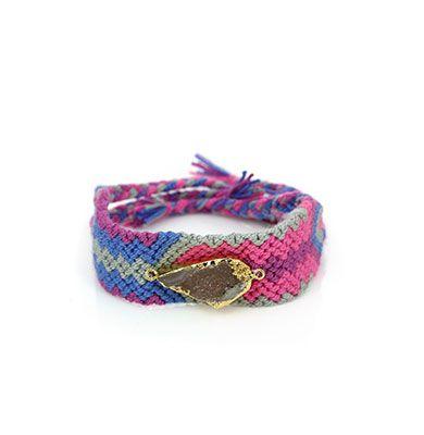 Wayuu Armband met Edelsteen 112 - €39,95