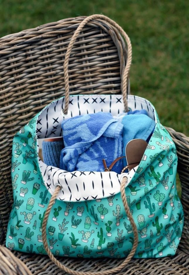 Whip up a beach bag by following this easy sewing tutorial.
