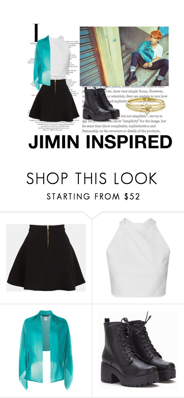 """Jimin ''RUN''"" by tamaraaral on Polyvore featuring Parker, Alberta Ferretti y Jennifer Meyer Jewelry"