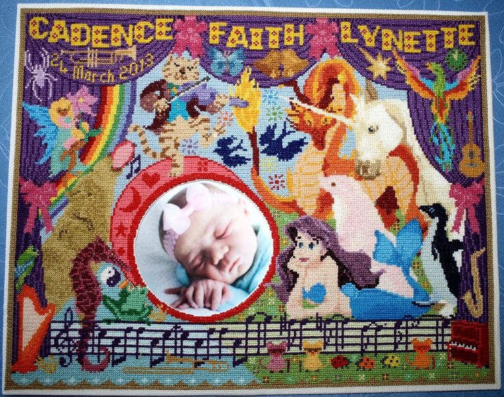 A picture frame for Cadence ... the music is from Highway Star