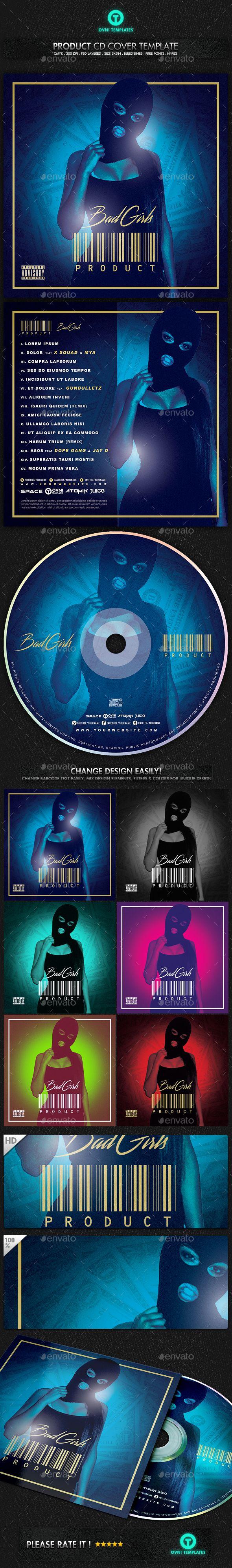 Gangsta Girl Trap Hip Hop Rap Mixtape Cover Template PSD. Download here: http://graphicriver.net/item/gangsta-girl-trap-hip-hop-rap-mixtape-cover-template/15105856?ref=ksioks