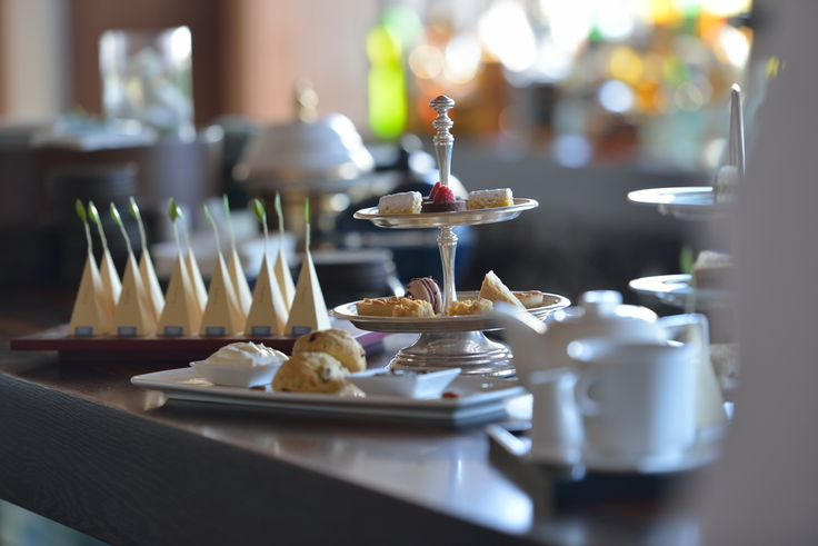 Enjoy traditional tea with scones, cream and jam, finger sandwiches and dainty cakes, every afternoon at Arsenali Lounge! It is a treat! #afternoontea #experience @Blue Palace, a Luxury Collection Resort & Spa, Elounda