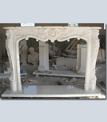 fireplace mantle make from wood add plaster of paris appliqus paint