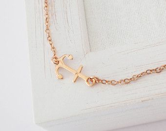 Sideways Anchor Ring in Gold or Sterling Silver от CristineLukas