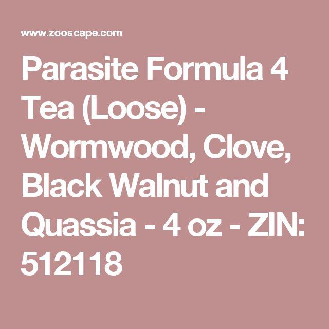 Parasite Formula 4 Tea (Loose) - Wormwood, Clove, Black Walnut and Quassia - 4 oz - ZIN: 512118