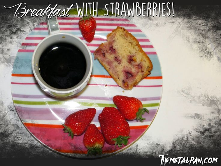 Breakfast with Strawberries - Strawberry Cream Cheese Sweet Bread <3