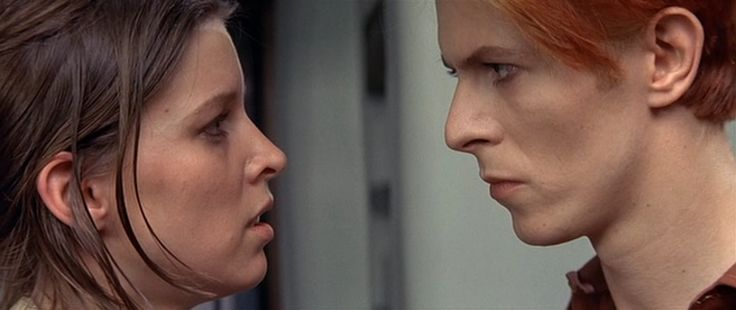 Candy Clark and David Bowie in TMWFTE