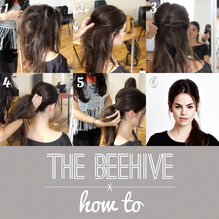 How To Do A Beehive Hairstyle H A I R Pelo Tenido