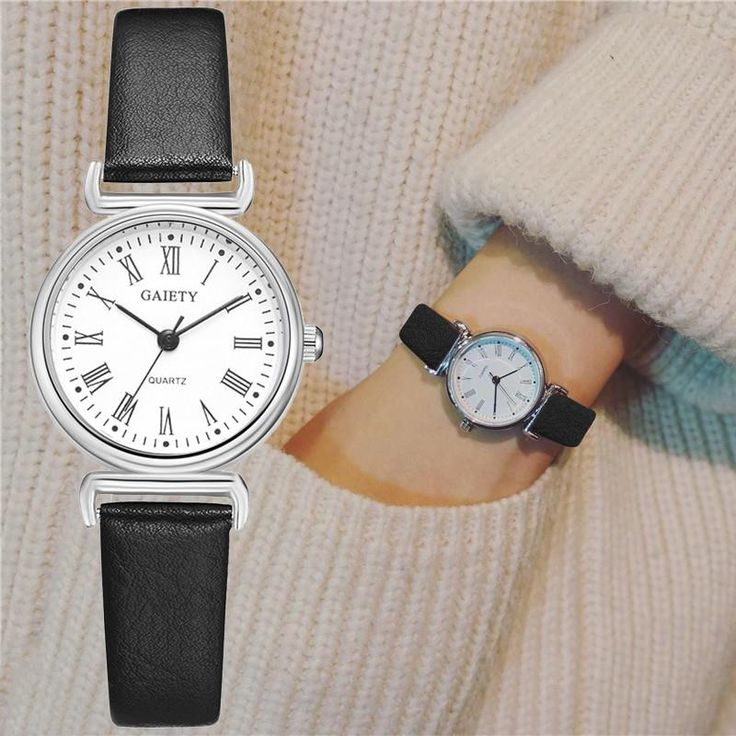 Exquisite Small Women Dress Watches Retro Leather Clock Top