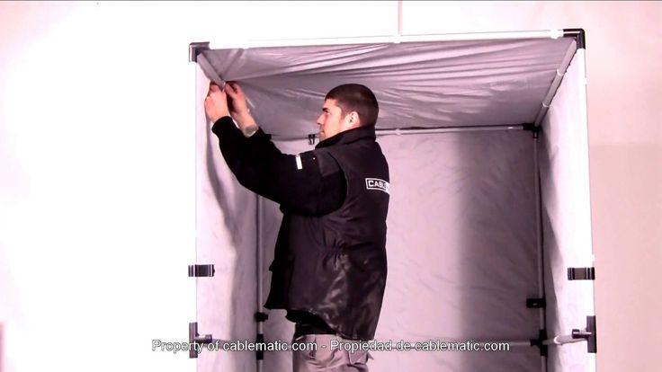 Estudio fotográfico portátil para retratos distribuido por CABLEMATIC ®