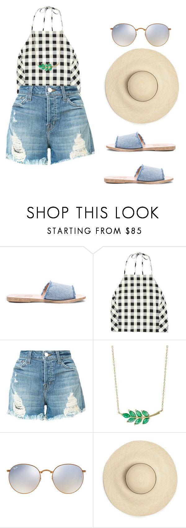 """""""Untitled #553"""" by crownof-floralbeauty19 ❤ liked on Polyvore featuring Ancient Greek Sandals, rag & bone, J Brand, Finn and Ray-Ban"""