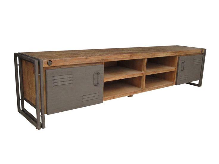 Industrial tv dressoir, audio meubel industrieel, industrieel tv meubel. Direct uit voorraad leverbaar! http://www.happy-home.nl/shop/industriele-meubelen/industrieel/industrial-tv-dressoir-220-cm-detail.html