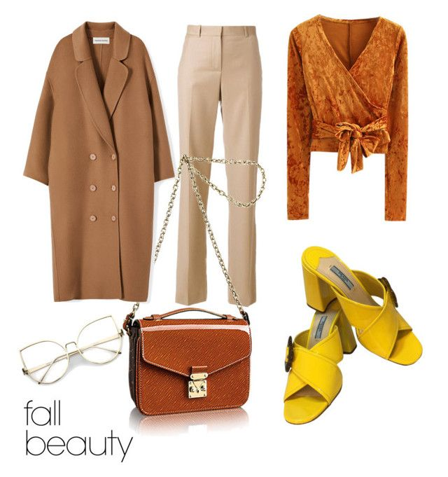"""""""Feeling fall"""" by daniellerose17 on Polyvore featuring beauty, WithChic, Givenchy, Prada and Louis Vuitton"""