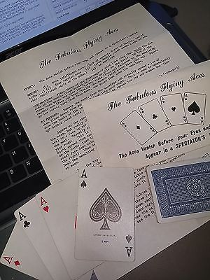 Aces Vanish Appear in a Spectators Pocket THE FABULOUS FLYING ACES CARD TRICK Collectibles:Fantasy, Mythical & Magic:Magic:Tricks www.webrummage.com $14.99