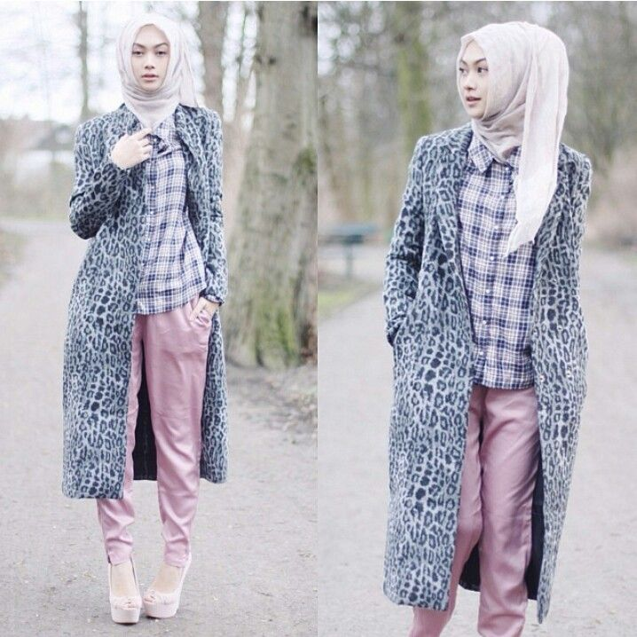 A simple hijab outfit by Indah Nada.. shirt is the best outfit ever ♥