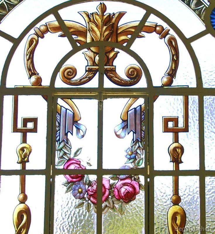 ornato floral temperley nuevo vitraux ornamental diseado para una antigua casa restaurada