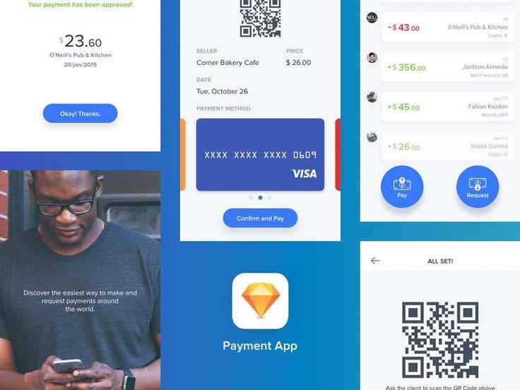 Quick Payments App - Sketch Freebie