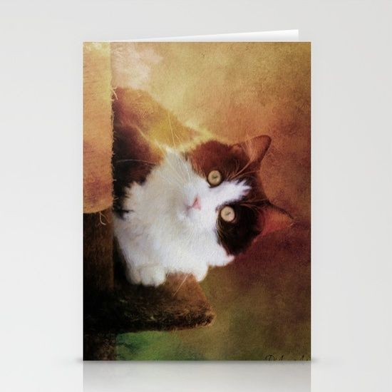 #Greeting #card  by Theresa Campbell D'August Art-20% Off #Pillows Today-#SALE - #cat-Set of folded stationery cards printed on bright white, smooth card stock to bring your personal artistic style to everyday correspondence.  Each card is blank on the inside and includes a soft white, European fold envelope for mailing.