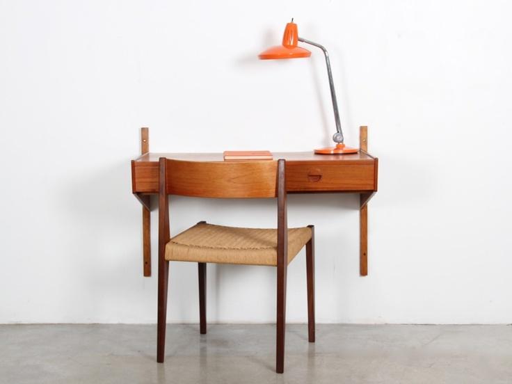 petit bureau mural danemark 1960 39 s meubler pinterest. Black Bedroom Furniture Sets. Home Design Ideas