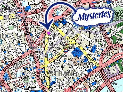 Mysteries - London. For all your Metaphysical Needs. 9-11 Monmouth Street Covent Garden WC2H 9DA