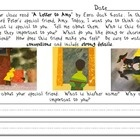 "Use this creative three paged, primary lined, reader's response sheet after reading Ezra Jack Keat's ""A Letter to Amy."" Students are tasked with connecting to the text by writing about a friend that is important to them. Clear directions, kid friendly prompts, and a huge illustration panel, is sure to make this response sheet a class favorite."