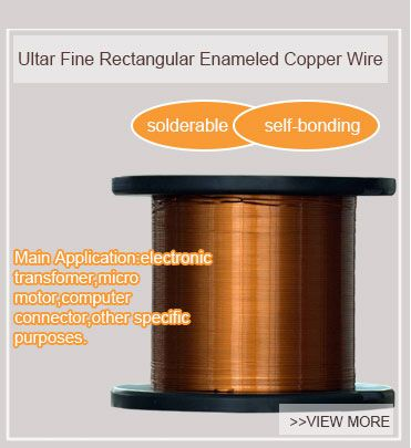 our ultra fine rectangular enameled copper wires' diameter can be 0.025mm.