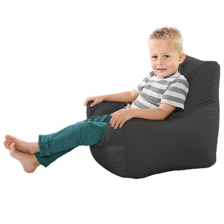 Comfy Toddler Armchair Grey Beanbag Chair
