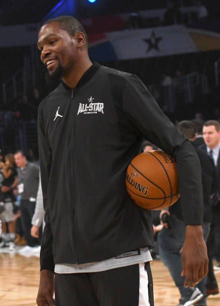 9b0a105b913 Kevin Durant warms up during the NBA AllStar Game 2018 at Staples Center on February  18 2018 in Los Angeles California