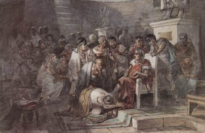 Убийство Юлия Цезаря. Около 1875