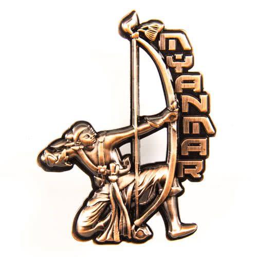 Metal Fridge Magnet: Burma. Archer (Bronze Color)