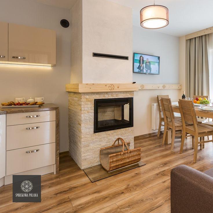 Apartament Śnieżny - zapraszamy!  #poland #polska #malopolska #zakopane #resort #apartamenty #apartamentos #noclegi #livingroom #salon #fireplace