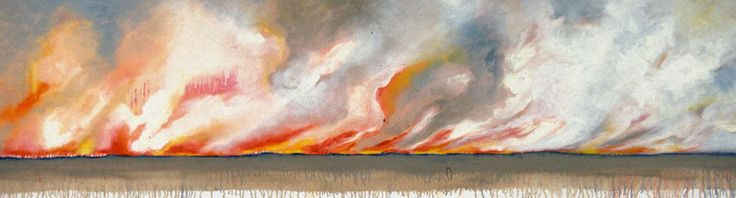 Judy Cotton - Paintings. This brings to mind a fire raging out of control...but I can't resist the colors.