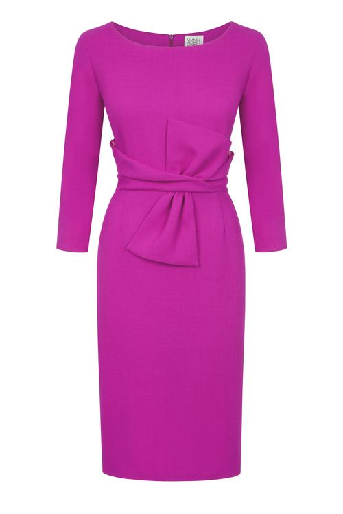 Niamh ONeill - Fuchsia Wool Crepe Opera Dress -Ireland