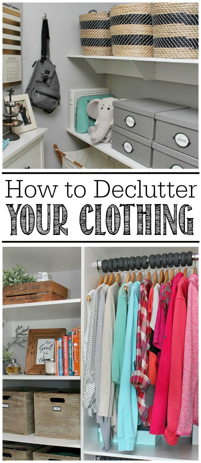 How To Declutter Your Clothing. Clothing OrganizationBedroom ...