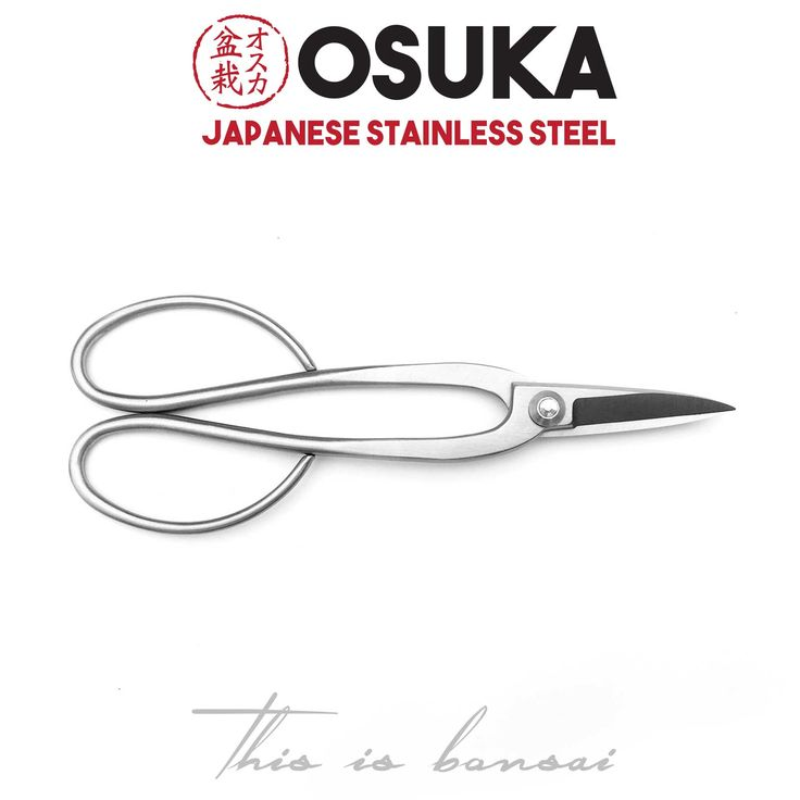 • OSUKA Bonsai Shears (Bonsai Scissors) • Length – 200mm • Finish – Silver • Material – High Quality Japanese Stainless Steel
